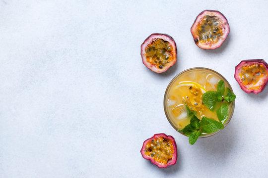 lemonade with passion fruit