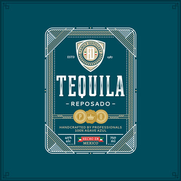 Tequila label template