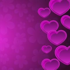 Heart, flowers, congratulations, declaration of love, postcard. Vector illustration for your design.