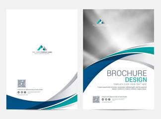 Brochure template flyer design vector background - fototapety na wymiar