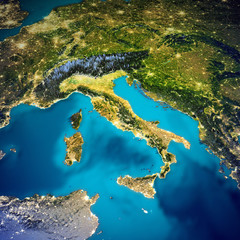 Wall Mural - Italy space map