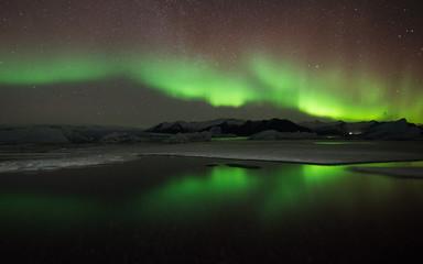 Iceland Jökulsárlón Northen Lights
