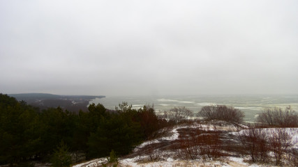 Curonian Spit in winter