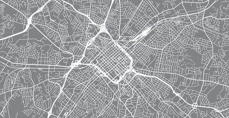 Urban vector city map of Charlotte, North Carolina, United States of America Wall mural