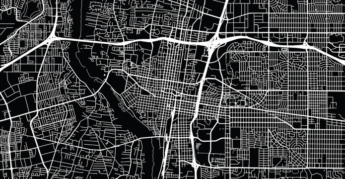 Urban vector city map of Albuquerque, New Mexico, United States of America
