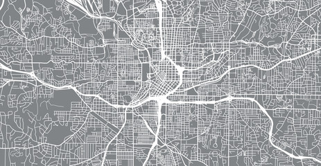 Urban vector city map of Atlanta, Georgia, United States of America
