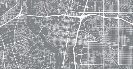 Urban vector city map of Albuquerque, New Mexico, United States of America