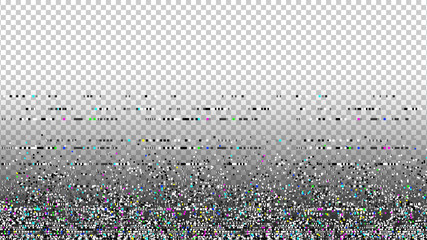 Glitch background. Grunge texture. Unusual glitch. Computer screen error. Digital pixel noise. Abstract design. Television signal fail. Data decay. Monitor technical problem.