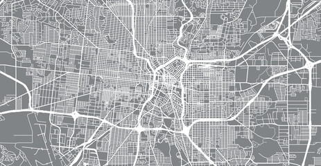 Urban vector city map of San Antonio, Texas, United States of America