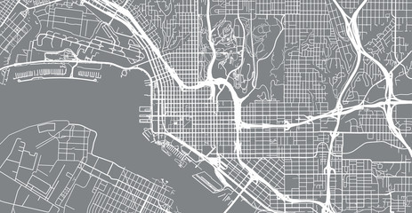 Urban vector city map of San Diego, California, United States of America