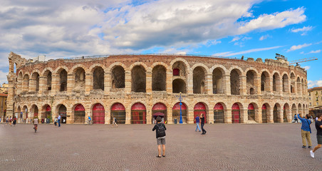 Arena of Verona in Italy / Roman Architecture built in the first century