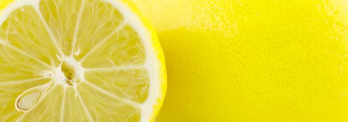 Lemons citrus yellow background