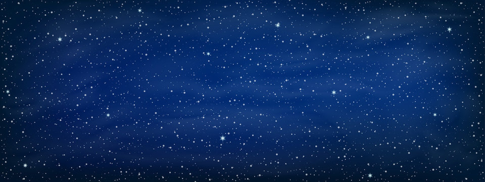 Starry space background - vector