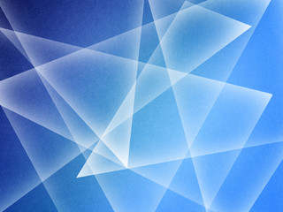 Modern abstract blue transparent crystal pattern background template