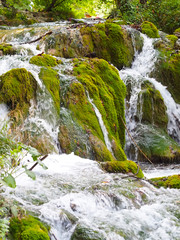 Cascade waterfalls at Plitvice lakes national park, Croatia
