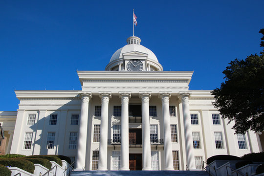 View on the Alabama State Capitol, USA