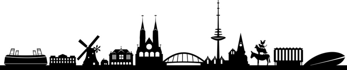 Bremen City Skyline