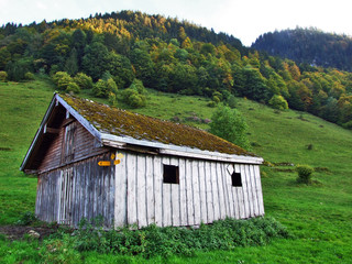Rural and mountain farms and the traditional architecture in Thur River Valley - Canton St. Gallen, Switzerland