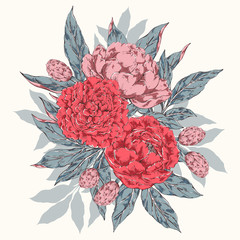 Vintage floral bouquet