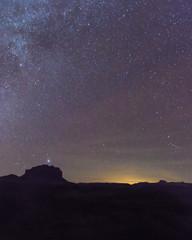 Night sky over Utah desert