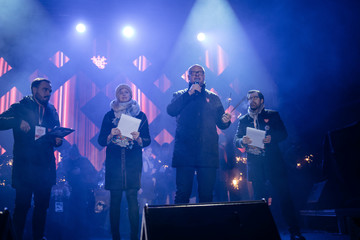 A doctor gives an update on the condition of Gdansk's Mayor Pawel Adamowicz who was stabbed during an open-air 27th Grand Finale of the Great Orchestra of Christmas Charity in Gdansk