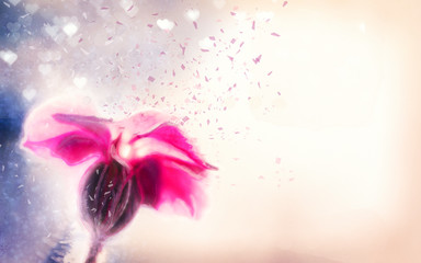 Painting background with flower