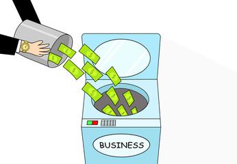 Money laundering, cartoon vector art