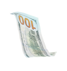 One dollar banknote on white background. National American currency