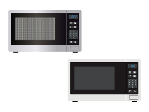 Abstract microwave, isolated on a white background - vector illustration