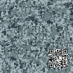 Modern fashion vector trendy camo pattern. Digital camouflage seamless pattern