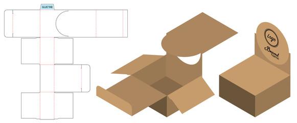 Box packaging die cut template design. 3d mock-up Wall mural