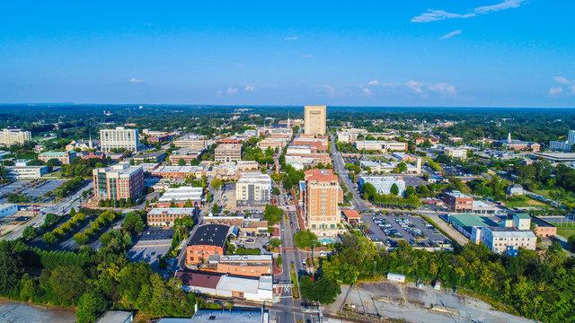 Spartanburg, SC, USA Drone Aerial