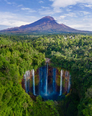 Semeru mountain with Tumpak Sewu waterfall