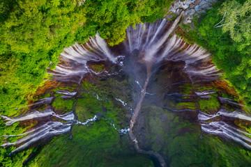 Wonderful Tumpak Sewu waterfall at Lumajang