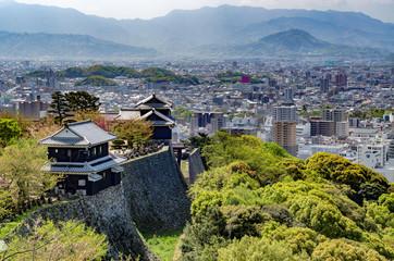 さわやかな春の松山城