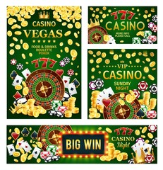 Casino poker gambling game with roulette and dices