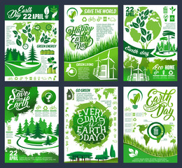 Earth Day banner for Save Planet eco concept