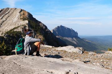 view on Mount Yamnuska, Kananaskis country,Alberta,Canada