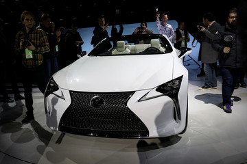 The Lexus LC convertible concept is unveiled during an event at the North American International Auto Show in Detroit, Michigan