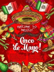 Mexican holiday, Cinco de Mayo day celebration