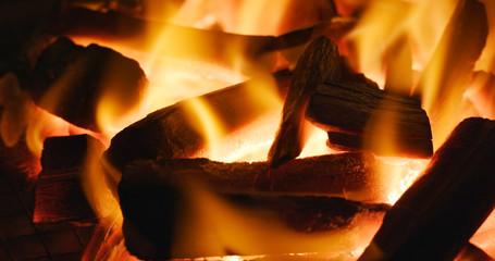 Flaming Charcoal BBQ