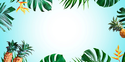 Summer tropical background with copy space