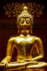 golden buddha statue in thailand, digital photo picture as a background