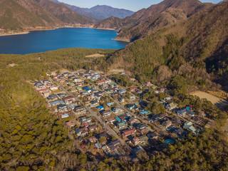 """樹海の村 """" Jyukai"""" at the foot of Mt"""