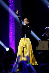 "Singer Dion performs ""A Change Is Gonna Come"" during the taping of ""Aretha! A Grammy Celebration For The Queen Of Soul"" at the Shrine Auditorium in Los Angeles"