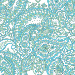 Paisley pattern. seamless vintage floral background