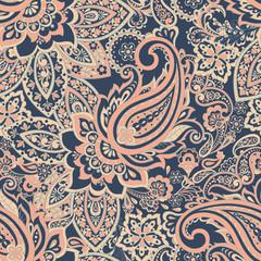 paisley seamless Vector pattern. batik style background