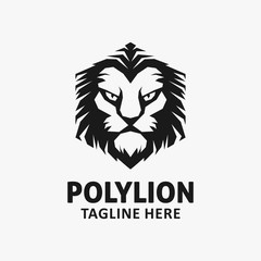 polygon lion logo design