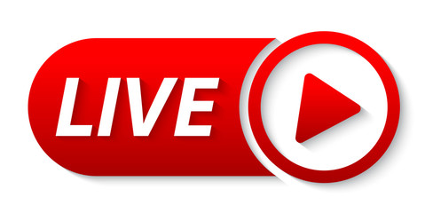 live  streaming lower third. video banner live from social media. YouTube live video streaming.