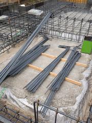 住宅の基礎工事 鉄筋
